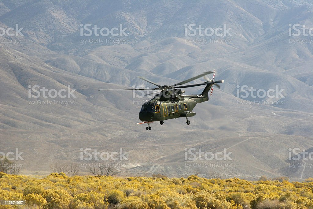 Experimental Helicopter US 101 stock photo