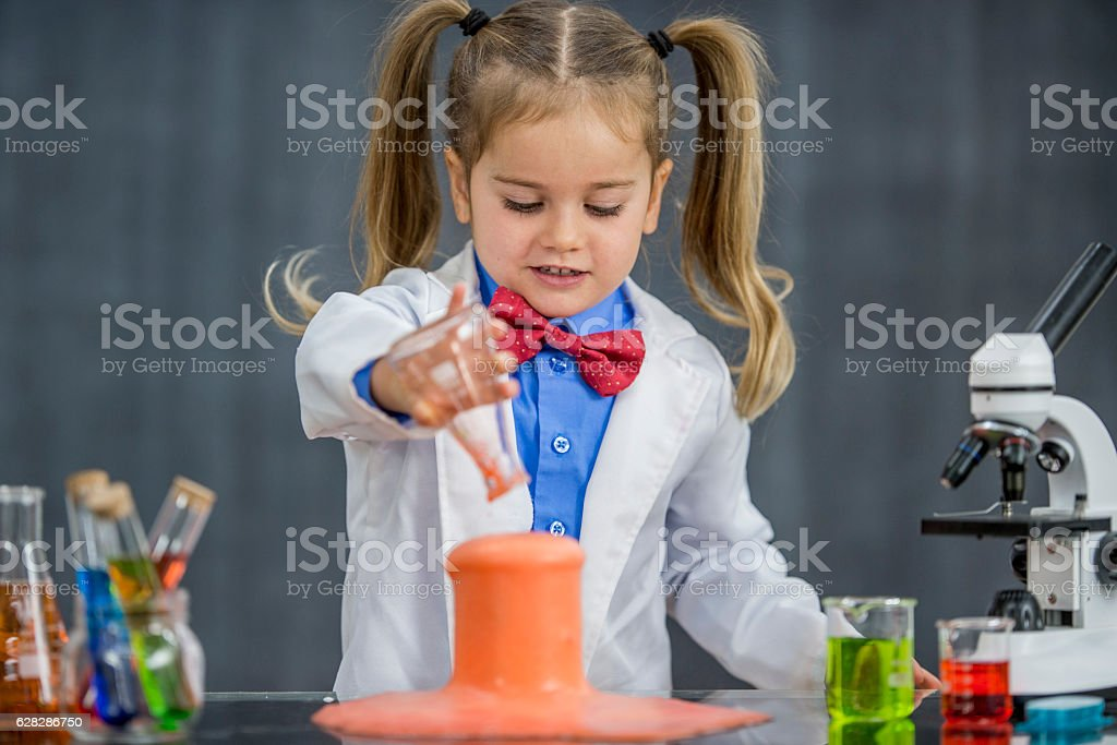 Experimenting in the Lab stock photo