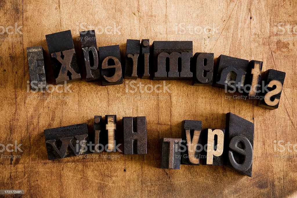 Experiments With Type royalty-free stock photo
