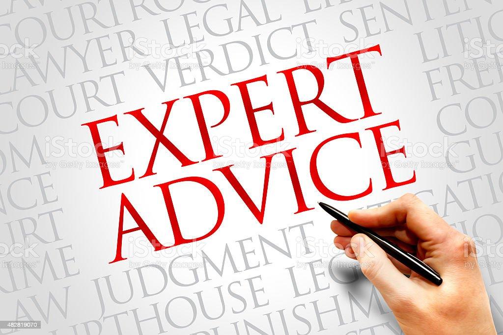 Expert advice stock photo