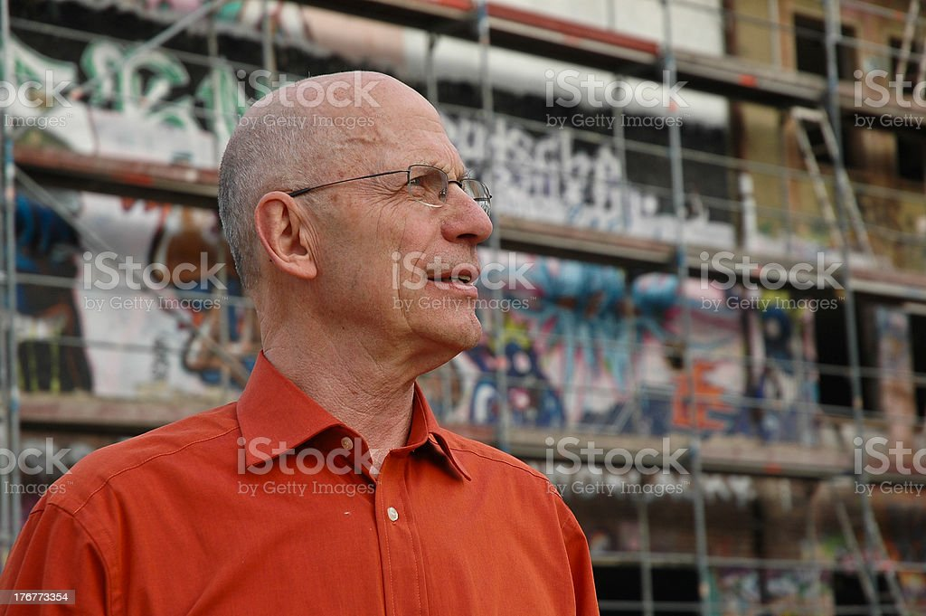 Expert Architect looking away royalty-free stock photo