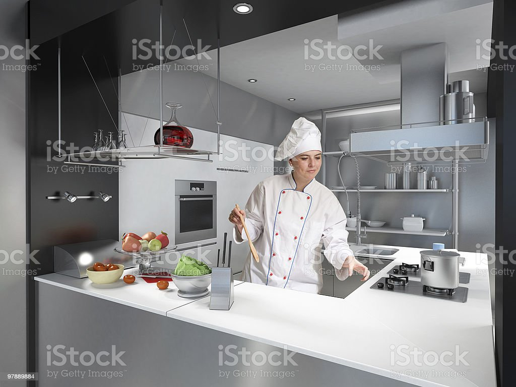 Expert female chef royalty-free stock photo