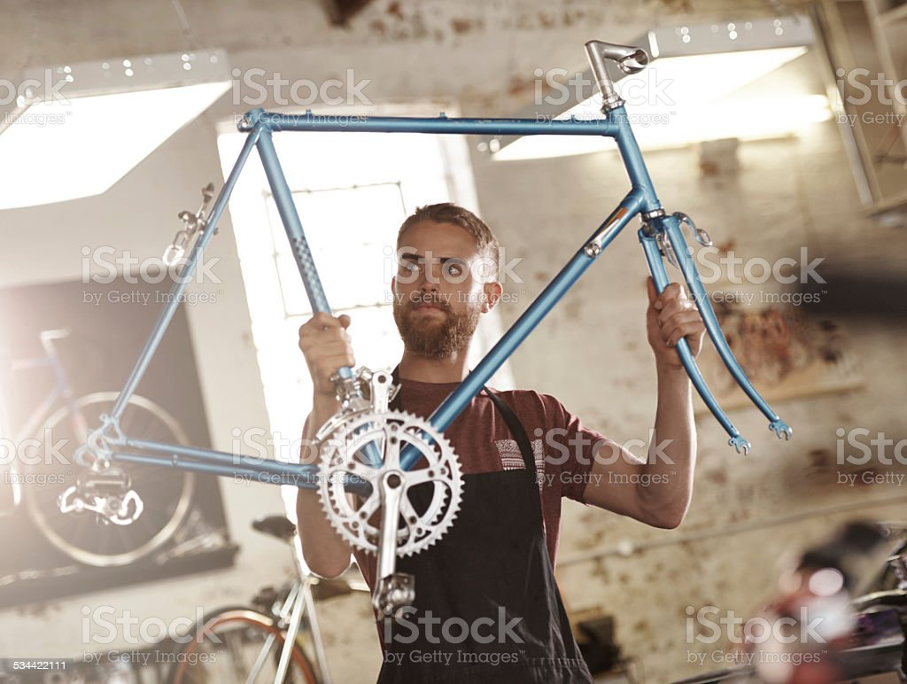 Expert in his field stock photo