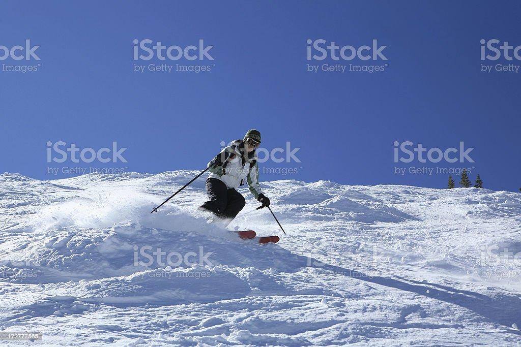 expert skier stock photo