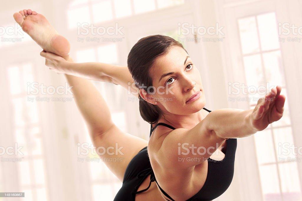 Expert yoga pose royalty-free stock photo