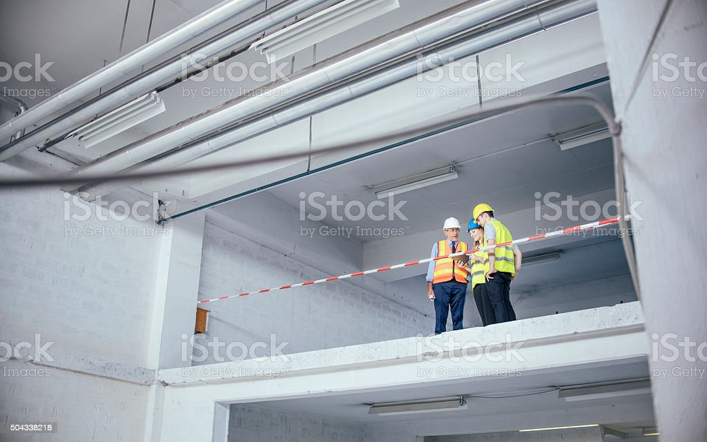Experts at work stock photo