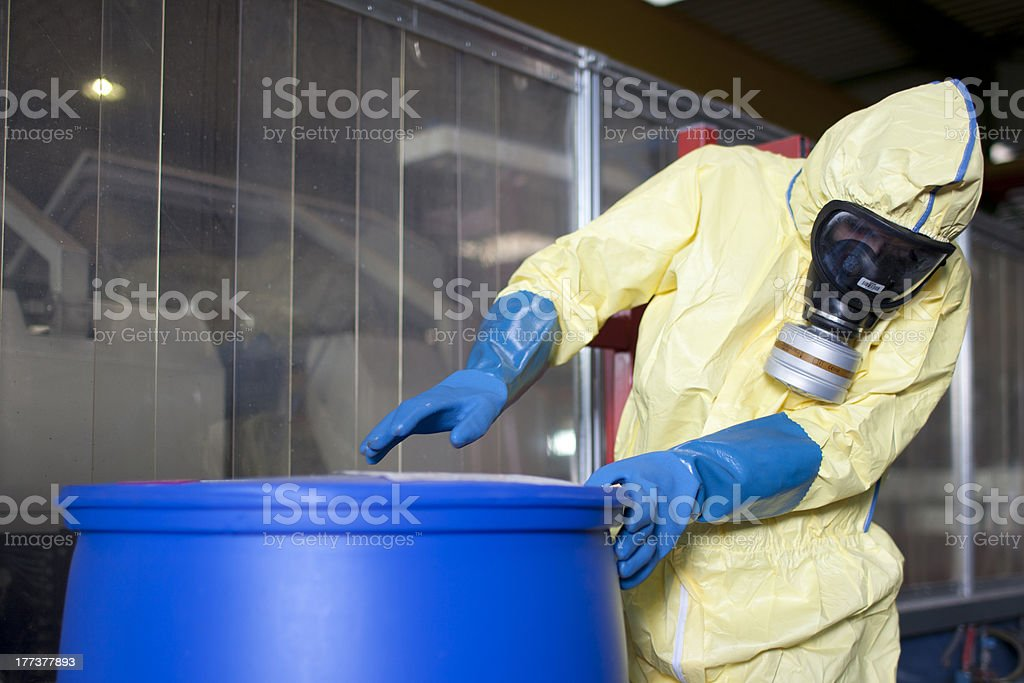 Experts disposing infested material royalty-free stock photo