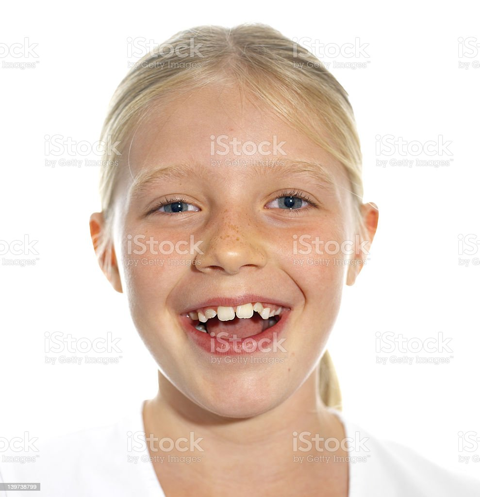 expessive girl's face stock photo