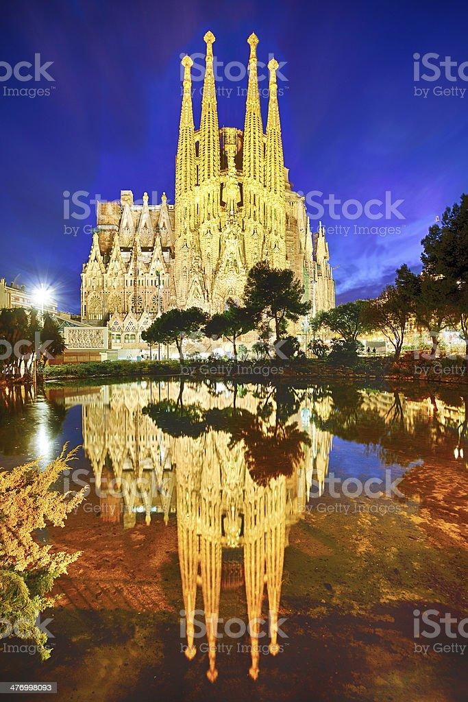 Expiatory church of La Sagrada Familia in Barcelona stock photo
