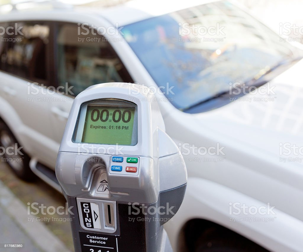 Expired Parking Meter stock photo