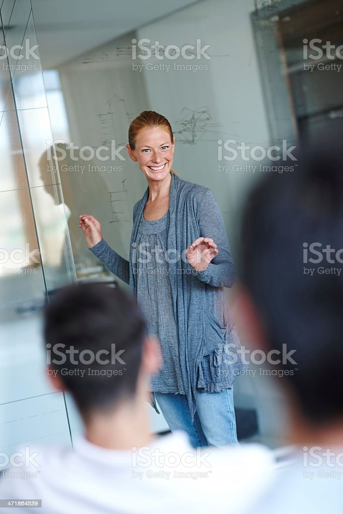Explaining her business vision royalty-free stock photo