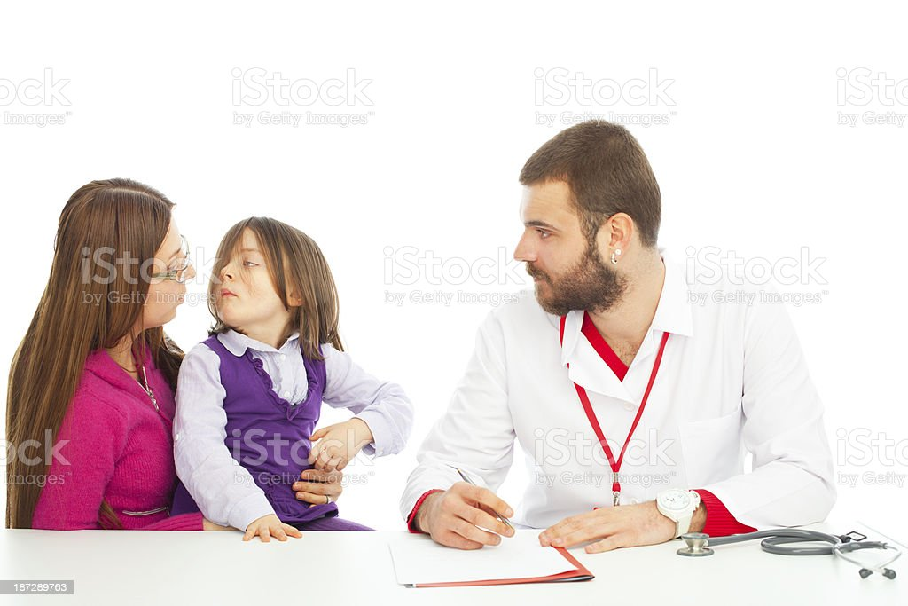 Explaining her test results royalty-free stock photo