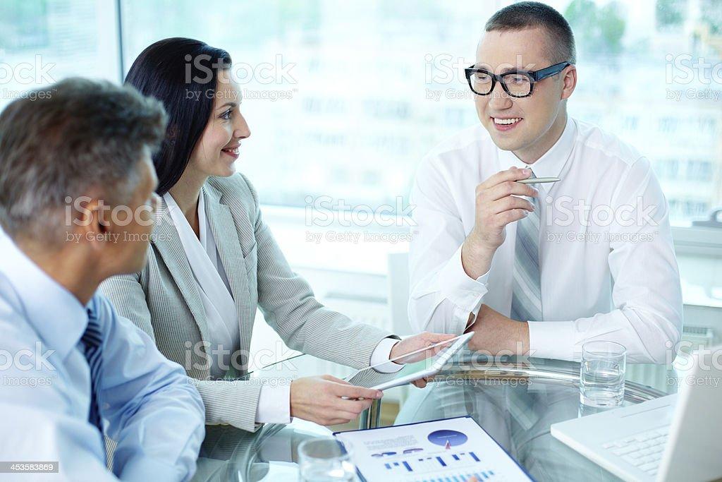 Explaining ideas royalty-free stock photo
