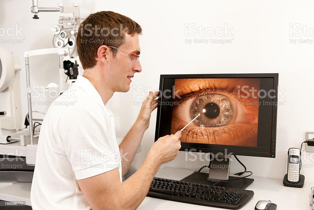 explaining the eye royalty-free stock photo