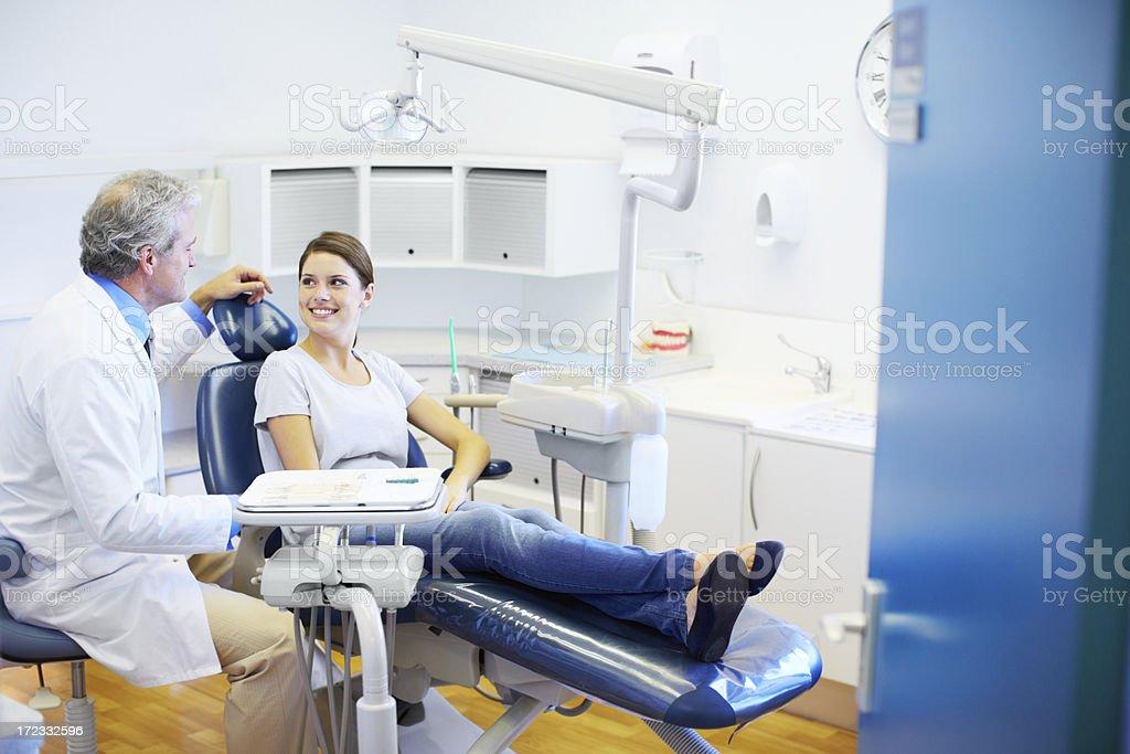Explaining the procedure stock photo