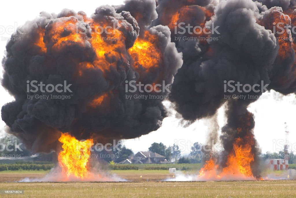 Exploded stock photo