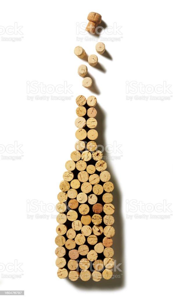 Exploding Champagne Cork Bottle stock photo