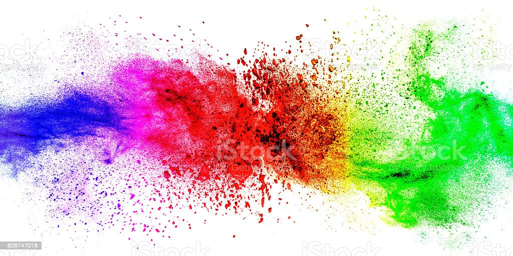 Exploding colorful abstract background stock photo