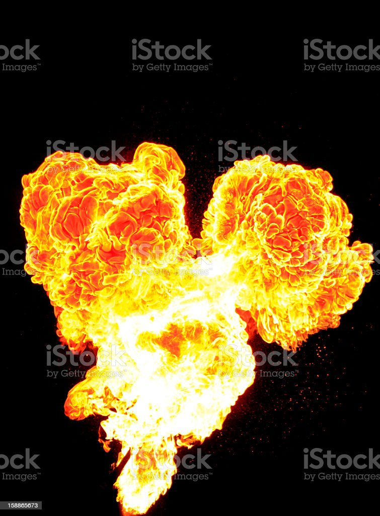 exploding fire ball royalty-free stock photo