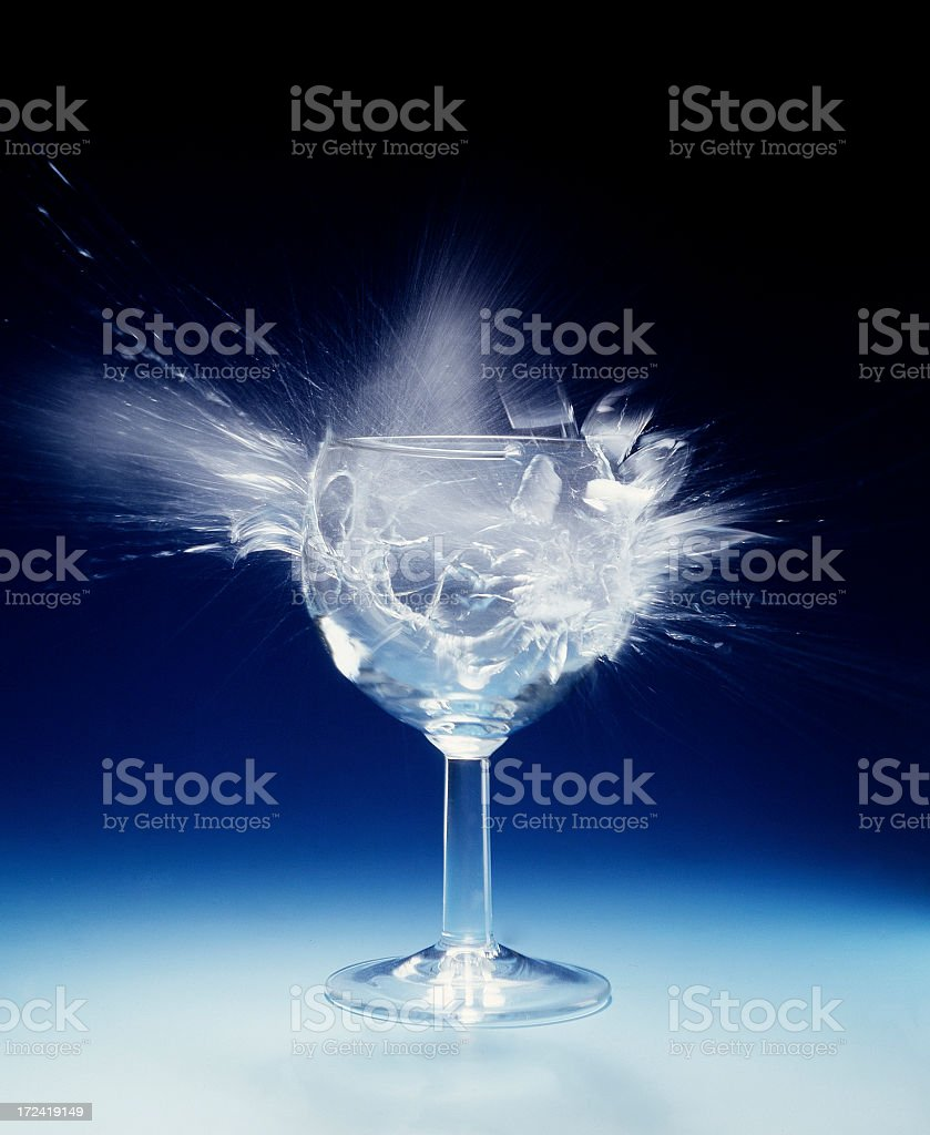 Exploding Glass. stock photo