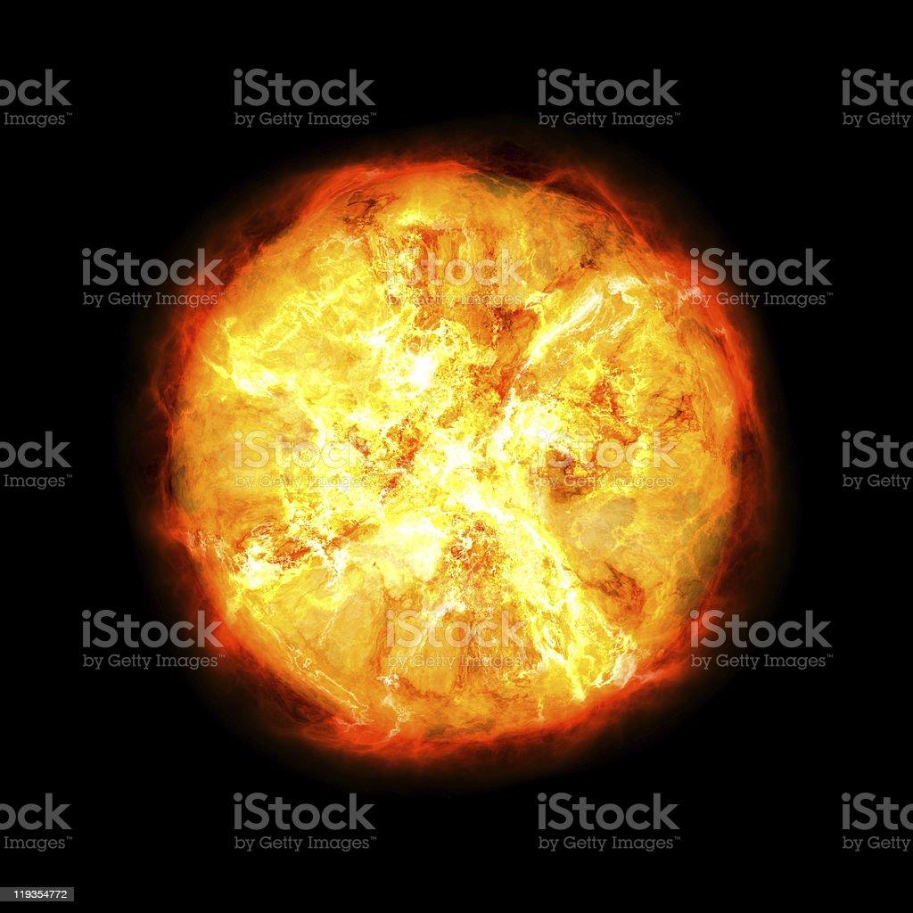Exploding star stock photo