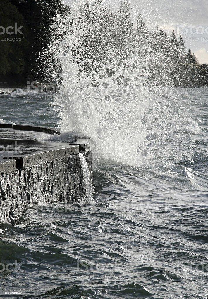 Exploding Wave royalty-free stock photo