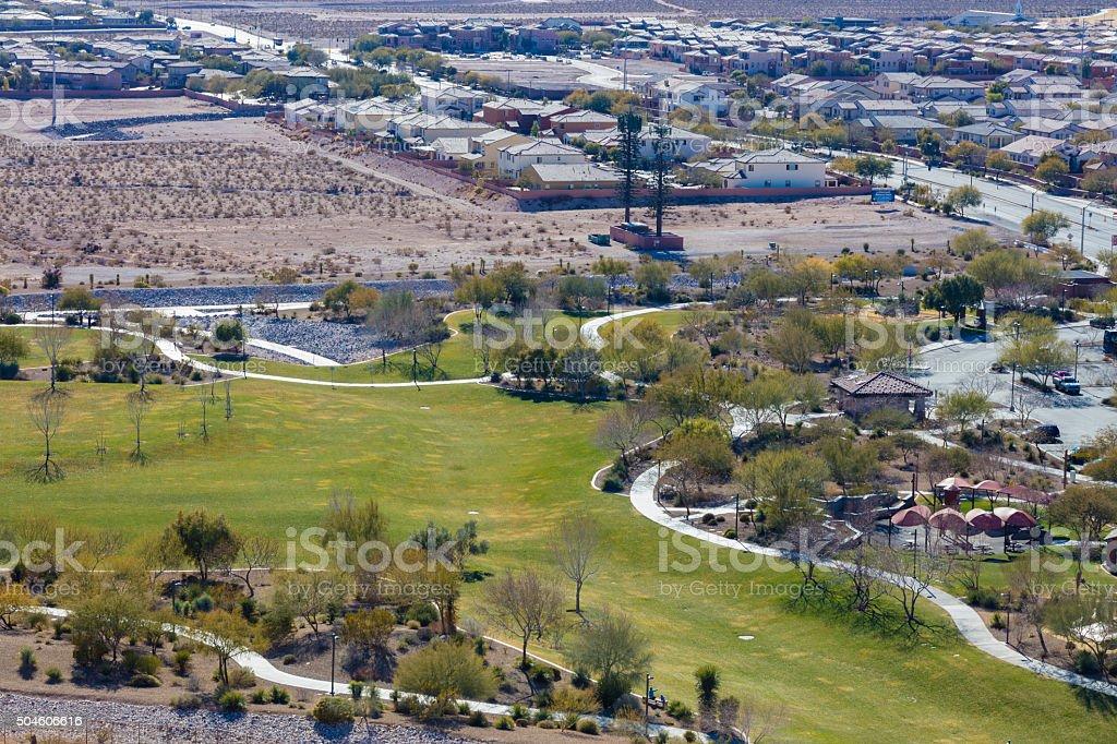 Explorarion Park in Las Vegas stock photo
