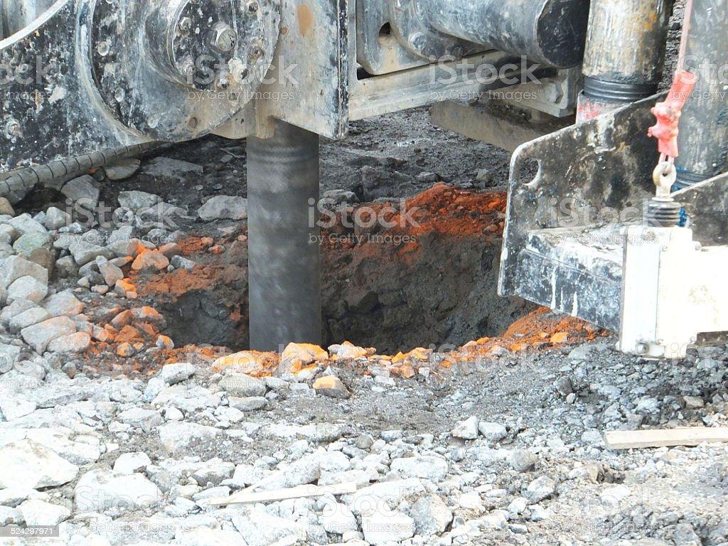 Exploration drill rig stock photo