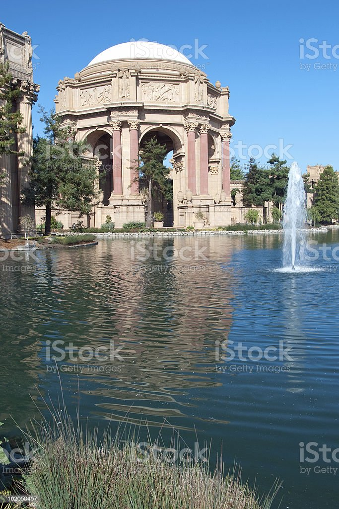 Exploratorium and Palace of Fine Arts in San Francisco. royalty-free stock photo