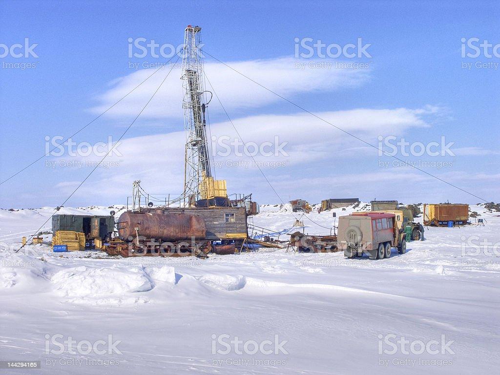 Exploratory drilling stock photo