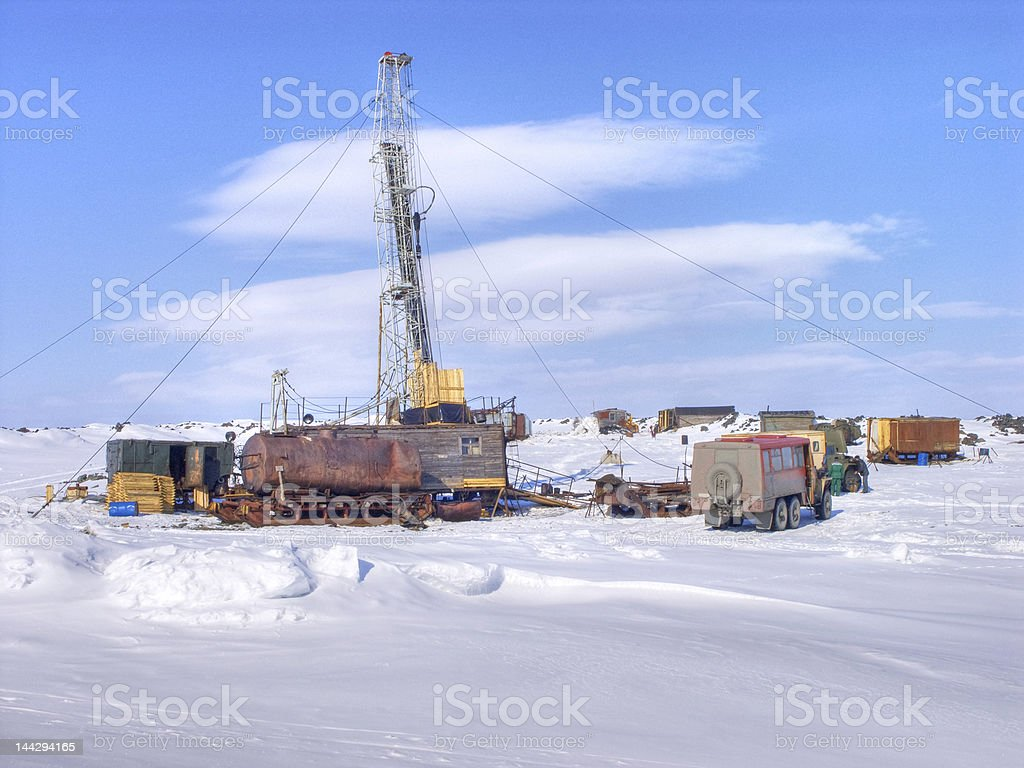 Exploratory drilling stock photo