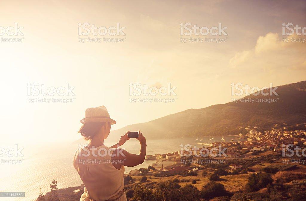 Explore. Dream. Discover stock photo