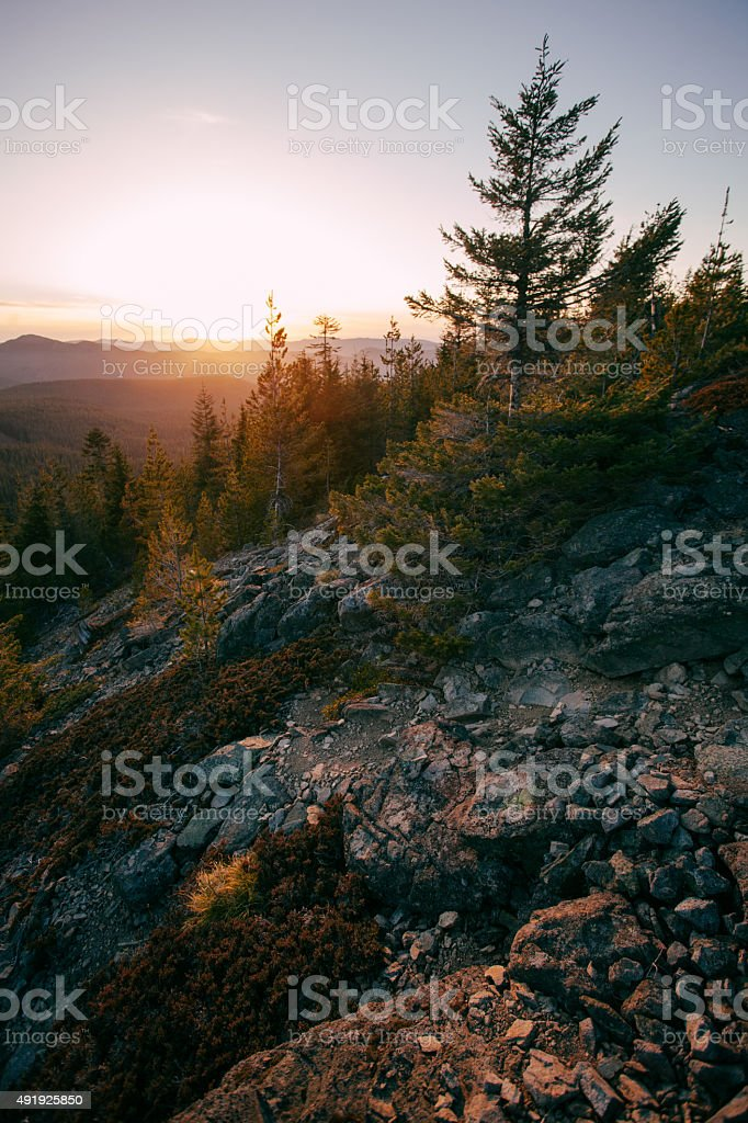 Explore Oregon Mount Hood Forests stock photo