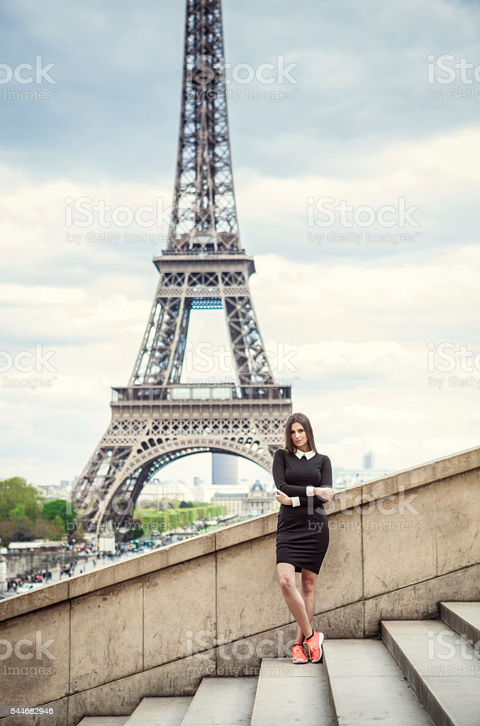 Explore Paris stock photo