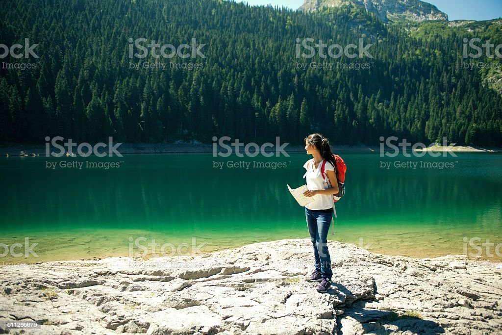 Explore unknown. stock photo