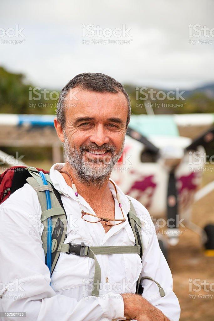 Explorer and Pilot royalty-free stock photo