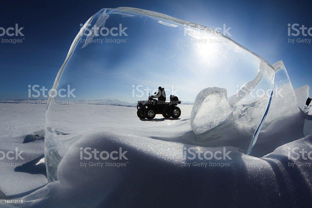 Explorer drives an ATV royalty-free stock photo