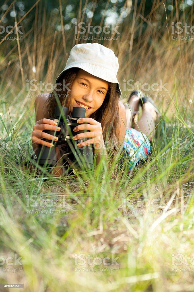 Explorer Girl stock photo