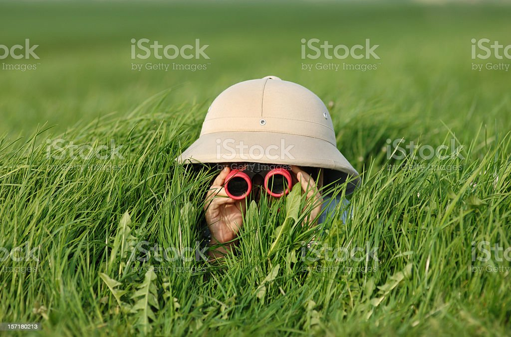 Explorer in the Field stock photo