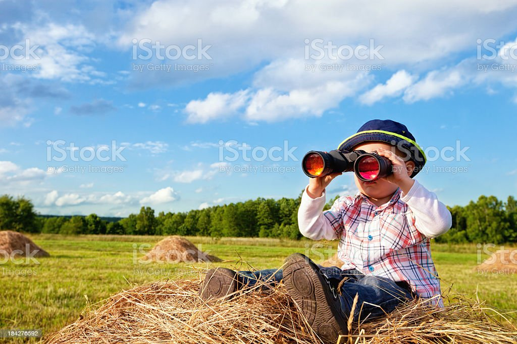 Explorer in the Field royalty-free stock photo