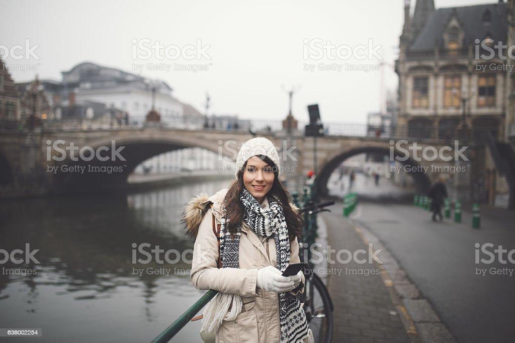 Exploring Belgium stock photo
