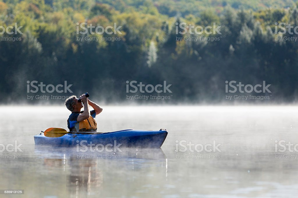 Exploring by Kayak stock photo