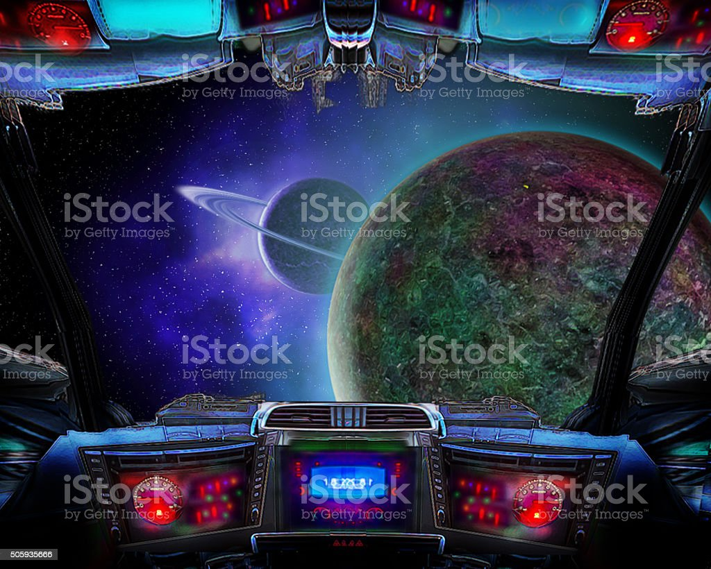 Exploring deep space. stock photo