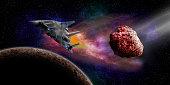 Exploring deep space.