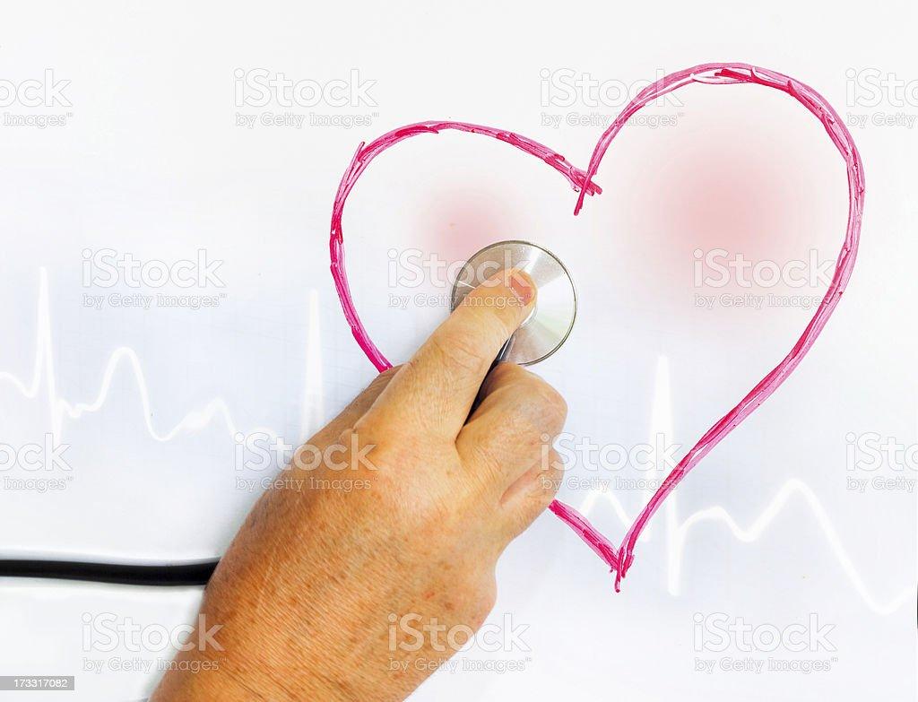 Exploring heart royalty-free stock photo