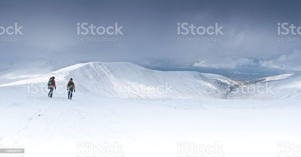 Exploring high white wilderness stock photo