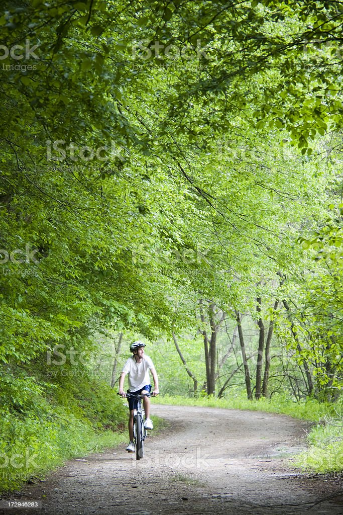 Exploring in nature royalty-free stock photo