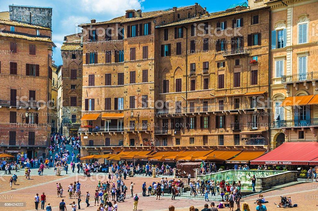 Exploring Siena stock photo