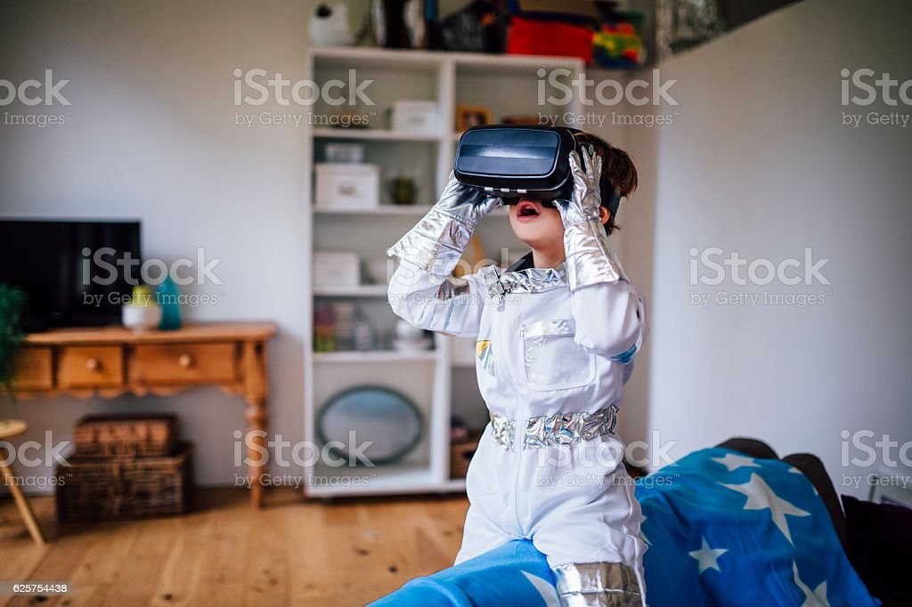 Exploring Space From Home stock photo