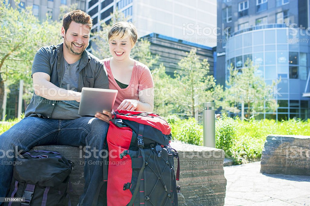 Exploring the city royalty-free stock photo